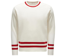 Rundhalspullover 'Aandronico' rot/offwhite