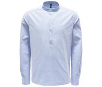 Popover-Hemd Grandad-Kragen dunkelblau