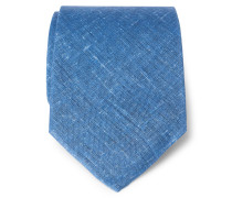 Leinenkrawatte blau