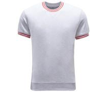 R-Neck Kurzarm-Sweatshirt hellgrau