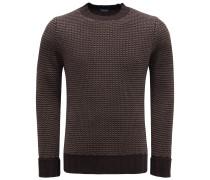 Merino R-Neck Pullover braun