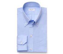 Casual Hemd 'George' Button-Down-Kragen hellblau