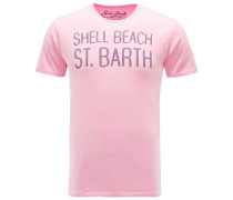 R-Neck T-Shirt 'Shell Beach' pink