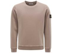 Sweatshirt mit Rundhals graubraun