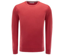 R-Neck Cashmere Pullover rot