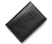 Kartenetui Echsenleder schwarz