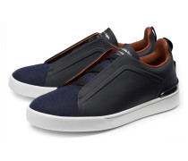 Slip-on Sneaker 'Triple Stitch' schwarz/navy