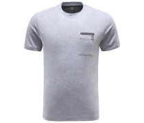 R-Neck T-Shirt grau