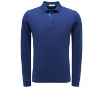 Longsleeve-Poloshirt blau