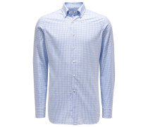 Casual Hemd Button-Down-Kragen hellblau/weiß