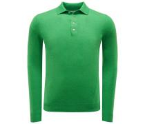 Cashmere Strickpolo grün