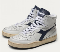 High Top Sneaker 'Mi Basket Used' weiß/navy
