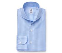 Business Hemd 'Milano' Haifisch-Kragen hellblau