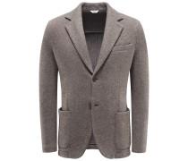 Jersey-Blazer braun/grau