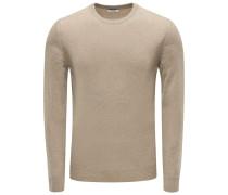 Cashmere R-Neck Pullover khaki