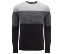 R-Neck Pullover anthrazit/grau