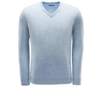 V-Neck Pullover rauchblau