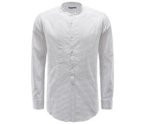 Popover-Hemd 'Shedir' Grandad-Kragen weiß