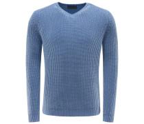 Cashmere V-Neck Pullover 'Franklin' hellblau