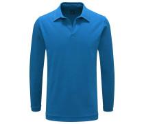 Langarm-Poloshirt blau