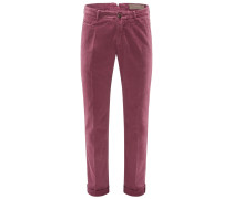 Chino 'B Comfort Vintage Slim Fit' bordeaux