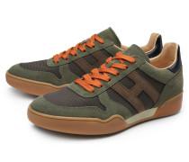 Sneaker 'H357' oliv/orange