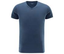 V-Neck T-Shirt graublau