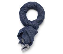 Schal dunkelblau/hellgrau