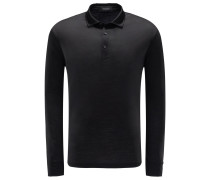 Longsleeve-Poloshirt 'High Performance' schwarz