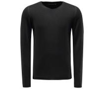V-Ausschnitt-Pullover 'Fu10re' schwarz