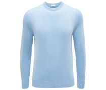 Cashmere R-Neck Pullover hellblau