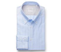 Casual Hemd Button-Down-Kragen hellblau