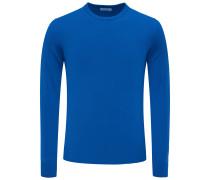Cashmere R-Neck Pullover 'No. 30' blau