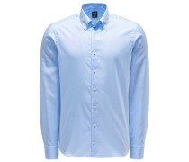 Oxfordhemd 'Malin' Button-Down-Kragen pastellblau