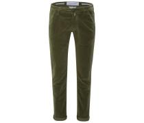 Fustagno-Hose 'J613 Comfort Slim Fit' oliv