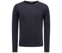 Frotteesweatshirt mit Rundhals 'Veit' navy