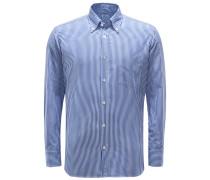 Casual Hemd Button-Down-Kragen blau/weiß
