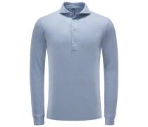 Longsleeve-Poloshirt rauchblau