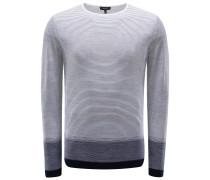 R-Neck Pullover weiß/navy