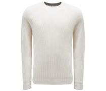 Cashmere R-Neck Pullover creme