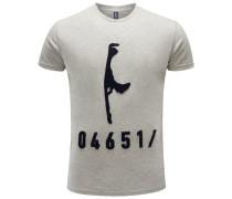R-Neck T-Shirt hellgrau