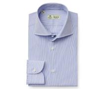 Business Hemd 'Nando' Haifisch-Kragen dunkelblau/weiß