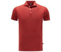 Leinen-Poloshirt hellrot