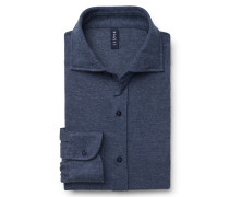 Jersey-Hemd Haifisch-Kragen graublau