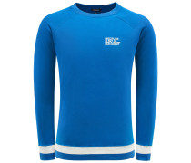 R-Neck Sweatshirt 'Discipline' blau