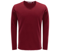 V-Neck Longsleeve 'Aurel' bordeaux