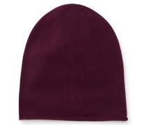Cashmere Mütze bordeaux