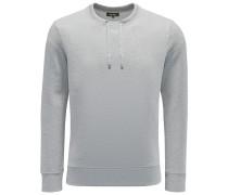R-Neck Sweatshirt 'Drawstring' grau