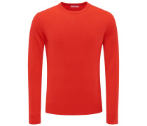 Cashmere R-Neck Pullover 'No. 30' rot