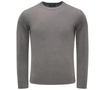 Cashmere R-Neck Pullover braun